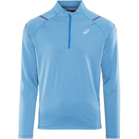 asics Icon LS 1/2 Zip Top Men Race Blue/Peacoat